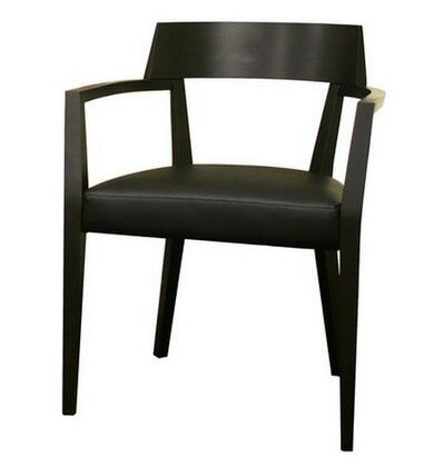 Wholesale Interiors DC-587- Laine Series Wood and Faux Leather Modern Dining Chair