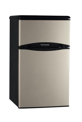 Frigidaire FFPH31M6LM  Freestanding Compact Refrigerator with 3.1 cu. ft. Capacity, 2 Glass ShelvesField Reversible Doors