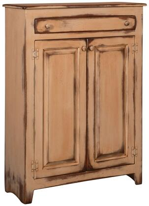 Chelsea Home Furniture Ruth 465001 Pie Safe with 2 Doors, 1 Drawer, Simple Knobs and Premium Grade Pine Wood Construction in Color