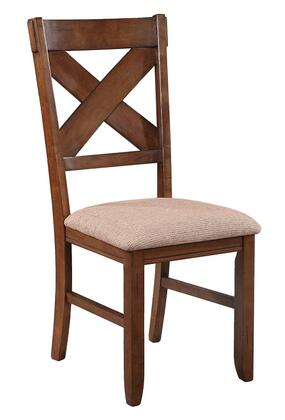 Powell 713434 Kraven Series Traditional Polyester Wood Frame Dining Room Chair