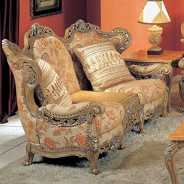 Yuan Tai LL2000L Lillian Series Fabric Sofa with Wood Frame Loveseat