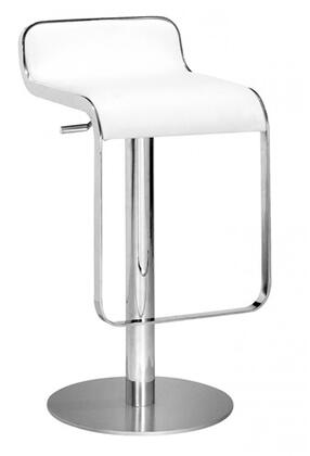 Fine Mod Imports FMI1135WHITE Lem Series Commercial/Residential Leather Upholstered Bar Stool