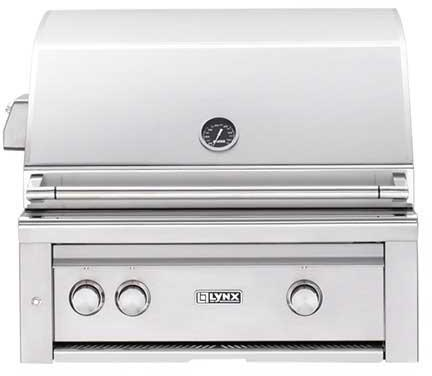 """Lynx L30PSR2LP Built-In 30"""" Liquid Propane Grill"""