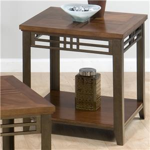 Jofran 5363 Barrington Series Contemporary Rectangular 0 Drawers End Table