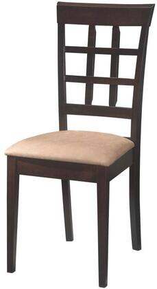 Coaster 100772 Mix and Match Series Contemporary Microfiber Wood Frame Dining Room Chair