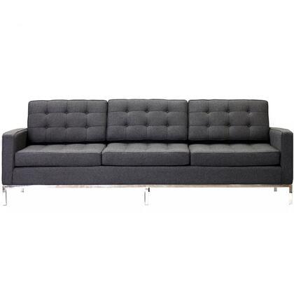 Modway EEI188DGR Loft Series Stationary Fabric Sofa