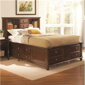 Coaster 200770Q Hampton Series  Queen Size Bookcase Bed