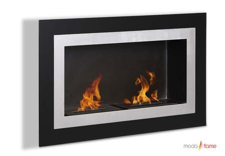 Moda Flame GF102401BK Wall Mountable Bioethanol Fireplace