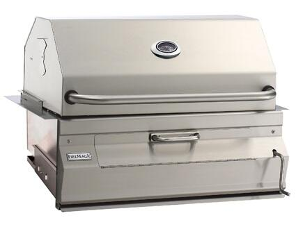 """FireMagic 14SX01CA Charcoal 30"""" Stainless Steel Grill with Stainless Steel Constructions and Hood"""