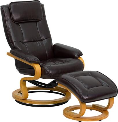 Flash Furniture BT7615BNCURVGG Contemporary Bonded Leather Wood Frame  Recliners