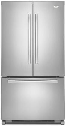 Whirlpool GX5FHTXVY  French Door Refrigerator with 24.8 cu. ft. Total Capacity 4 Glass Shelves