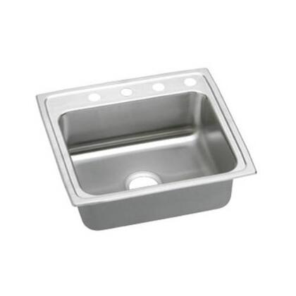 "Elkay LRAD221955R 22"" Top Mount ADA Compliant Single Bowl 18-Gauge Stainless Steel Sink"