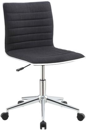 """Coaster Office Chairs 21"""" Office Chair with Chrome Base, Adjustable Seat Height, Fabric Upholstered Back and Seat in"""