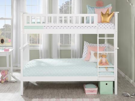 Atlantic Furniture AB55 Columbia Bunk Bed Twin Over Twin With Apron
