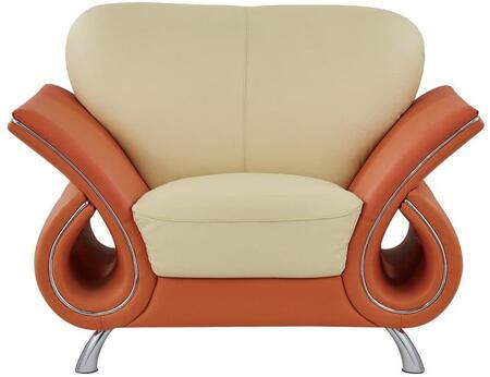 Global Furniture USA 559CH Leather with Wood Frame in Beige