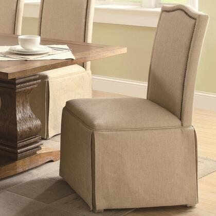 Coaster 103713 Parkins Series Transitional Fabric Wood Frame Dining Room Chair