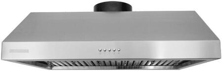 """XtremeAir Ultra Series UL11-UXX XX"""" Under Cabinet Ducted Range Hood With  900 CFM, Internal Blower, 3-Speeds Mechanical EZ Push Buttons, LED Lighting and Full Seamless Square Corner in Stainless Steel"""