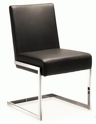 """Casabianca Fontana Collection CB-F3131 34"""" Dining Chair with Eco Leather Upholstery, Chrome Legs and Stitched Detailing in"""