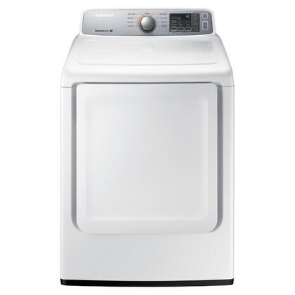 """Samsung Appliance DV45H7000GW 27"""" 7.4 cu. ft. Gas Dryer, in White"""