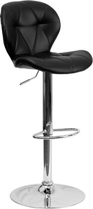 Flash Furniture SD2208BKGG Residential Vinyl Upholstered Bar Stool