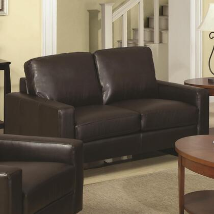 Coaster 504482 Sawyer Series Bonded Leather Stationary with Wood Frame Loveseat