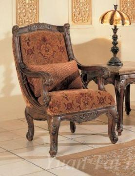 Yuan Tai NA2033A Natalie Series Fabric Arm Chair with Wood Frame