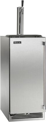 """Perlick HP15TS31x 15"""" Indoor Single Tap Beer Dispenser with Rapidcool Forced Air Refrigeration System, Stainless Steel Interior and 700 BTU Variable-Speed Compressor, in Stainless Steel with"""