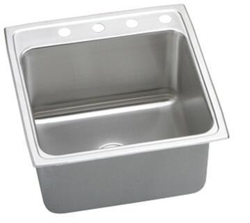 "Elkay DLR202210 Gourmet Lustertone Stainless Steel 19-1/2"" x 22"" Single Basin Kitchen Sink:"