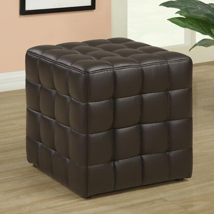 Monarch I8980 Contemporary Faux Leather Ottoman
