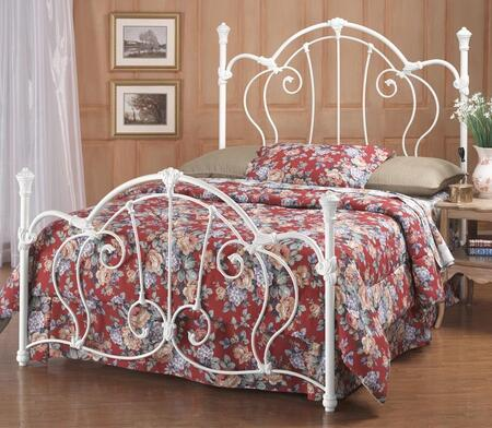 Hillsdale Furniture Cherie 381BR Poster Bed Set with Rails Included, Scrollwork, Victorian-Style, Vivid Castings and Metal Construction in Ivory Finish