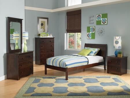 Atlantic Furniture PORTLANDOFTWINCL Portland Series  Twin Size Bed