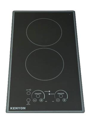 "Kenyon B41779 12"" Lite-Touch Q Series 2 Element Electric Cooktop, in Black Cortez"
