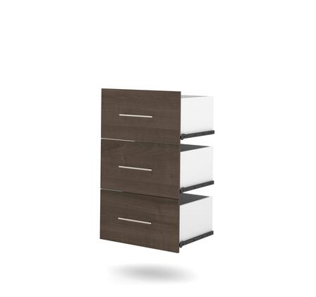 "Bestar Furniture 25163 Nebula by Bestar 3-Drawer set for 25"" storage unit"