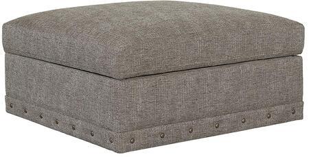 "Bassett Furniture Carmine Collection 3917-SSFC/FC156-X 39"" Square Storage Ottoman with Stylish Plush, Fiber Crown Patch and Fiber Wrap"