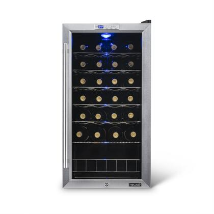 "Newair AWC270E 18.5"" Freestanding Wine Cooler, in Stainless Steel/Black"