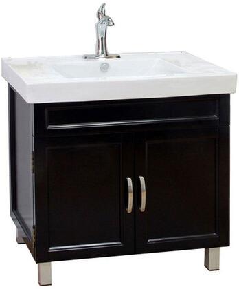 """Bellaterra Home 203131-31.5"""" Single Sink Vanity Wood:"""