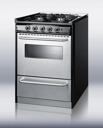 "Summit TNM61027BFRWY 24"" Professional Series Slide-in Gas Range with Sealed Burner Cooktop Broiler 2.9 cu. ft. Primary Oven Capacity"