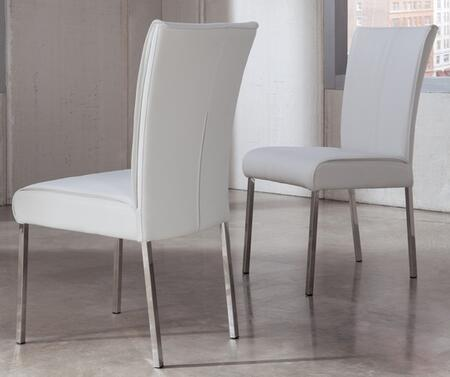 Signature Design by Ashley D41003 Baraga Series Modern PVC Metal Frame Dining Room Chair