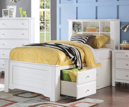 Acme Furniture 30420T Mallowsea Series  Twin Size Bookcase Bed