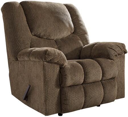 """Signature Design by Ashley 5000 Turboprop 40"""" Rocker Recliner with Metal Frame, Pillow Top Arms and Fabric Upholstery in"""