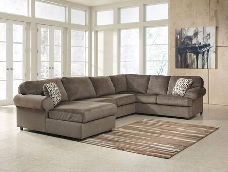Signature Design by Ashley 3980X-16-34-67 Jessa Place Sectional Sofa with Left Arm Facing Corner Chaise, Armless Loveseat and Right Arm Facing Sofa in