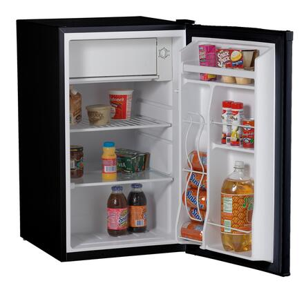 Avanti RM4121B  Freestanding Compact Refrigerator with 4.1 cu. ft. Capacity, 2 Glass ShelvesField Reversible Doors