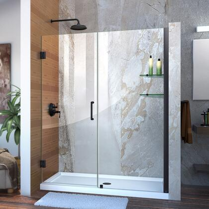 DreamLine Unidoor Shower Door with Base 12 28D 30P glass shelves 09 72 WM 11 16