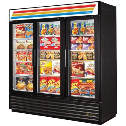 True GDM-72F Freezer Merchandiser with 72 Cu. Ft. Capacity, LED Lighting, and Thermal Insulated Glass Swing-Doors