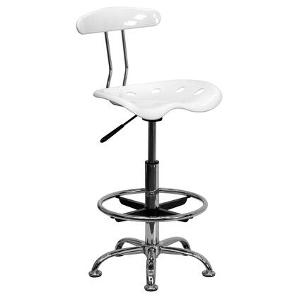 """Flash Furniture LF215WHITEGG 17.25"""" Adjustable Contemporary Office Chair"""