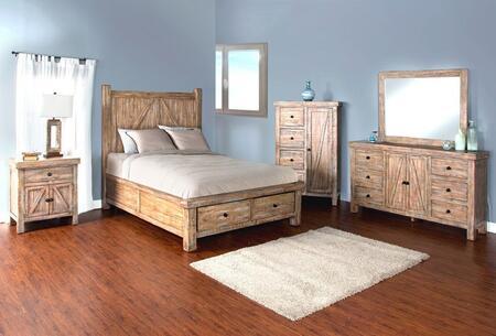 Sunny Designs 2307WBSQBDMN Durango Queen Bedroom Sets