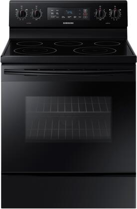 "Samsung NE59M4310S 30"" Freestanding Electric Range with 5.9 cu. ft. Oven Capacity, 5 Elements, 1.4 cu. ft. Storage Drawer, Sabbath Mode and Self Clean, in"