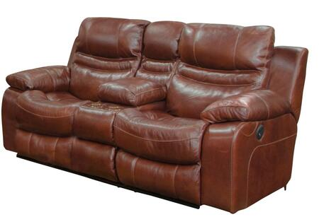 Catnapper 4249128319308319 Patton Series Leather Reclining with Metal Frame Loveseat