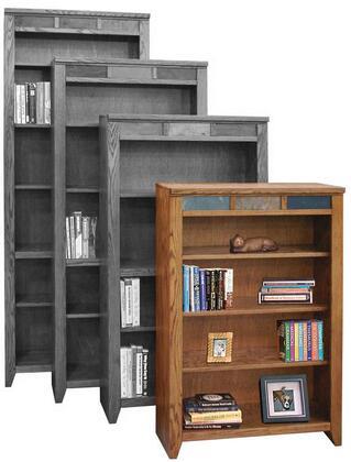 Legends Furniture OC6648GDOOak Creek Series Wood 4 Shelves Bookcase
