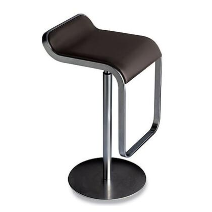 Fine Mod Imports FMI1135BROWN Lem Series Commercial/Residential Leather Upholstered Bar Stool